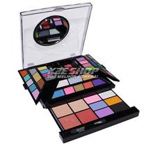 Kit De Maquiagem Jasmyne V235 3d Completa Com 58 Itens