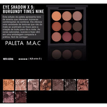 Paleta Mac 9 Cores De Sombras: Burgundy Times Nine