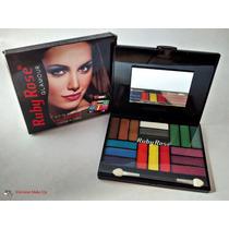 Kit De Sombras Com 18 Cores , Espelho E Pincel + Brinde B