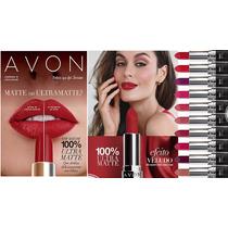 Promoção Batom Vermelho 100% Ultra Matte Avon