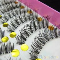Cílios Postiços 10 Pares Maquiagem Para Os Olhos