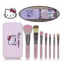 Kit 7 Pinceis Hello Kitty - Pronta Entrega