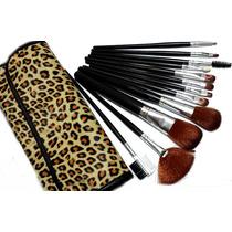 Kit Estojo Case 12 Pincéis Maquiagem Make Up Em 3 Estampas