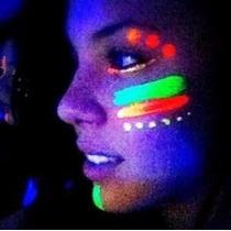 Tinta Fluorescente Para Pele - Kit Com 6 Cores
