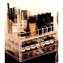 Organizador Porta Maquiagem Pincel Batom Acrilico 3 Gavetas!