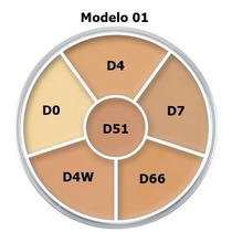 Kryolan Dermacolor Corretivo Circulo 6 Cores - Modelo 01