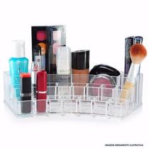 Organizador Maquiagem Porta 15 Batom Pincel Acrilico !!