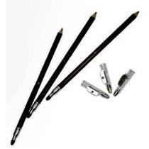Lápis Para Olhos Com Apontador E Esfumaçador Jasmyne - Preto