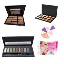 Kit De Maquiagem, Completo,maleta,kit,sombras,blush,pó.
