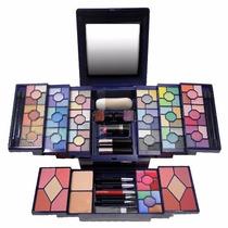 Kit Maquiagem Luisance 3d 90 Sombras 8 Blush Case Luxo Ma655