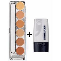 Kryolan Dermacolor Paleta M 6 Cores + Diluidor Makeup Blend