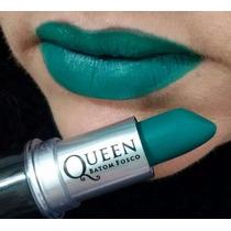 Batom Queen Matte Stilo Rihanna * Cor Verde * Pronta Entrega
