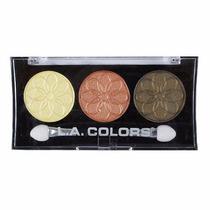Sombra La Colors - 3 Cores Metallic Eyeshadow - Dandelion