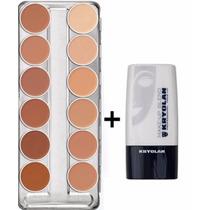 Kryolan Dermacolor Paleta C 12 Cores + Diluidor Makeup Blend
