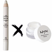 Nyx Eyeshadow Base Primer Branco White + Lápis Jumbo Milk