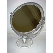 Espelho/maquiagem Base Acrílico Dupla Face 2x Aumento Grande