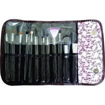 Kit Com 12 Pincéis P/ Maquiagem Luxo Dia Das Mães, Lindo