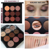 Ed.limitada Eyes On Mac/paleta Mac - Burgundy Times Nine