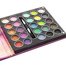 Kit Sombras 3d. Jasmyne Carteira Maquiagem 25 Cores + Pincel