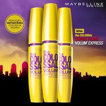 3 Máscaras De Cílios Maybelline Colossal Preta Volum Express