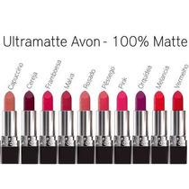 Avon Batom Ultra Matte Todas As Cores - Kit Com 5 Batons