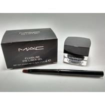 Delineador Mac Gel Fluidline Eye Liner Com Pincel Maquiagem