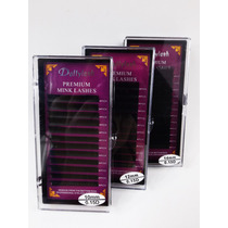 Kit 3 Bandejas Cílios Mink Premium 10,12,14mm - Curva D 0.15