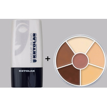 Kryolan Diluidor Make Up Blend + Paleta 6 Cores Circulo Usa