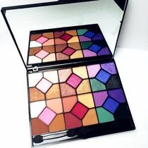Estojo Com 30 Sombras Vivai 3d Fosca Brilhante Matte Espelho