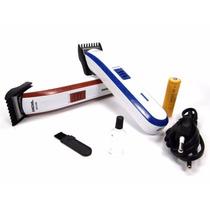 Máquina Aparar Cabelo Recarregável Cortar Barba Pezinho Nova