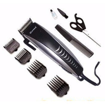 Máquina Cortador Cabelo Barba Pelos 9pçs Beleza Profissional