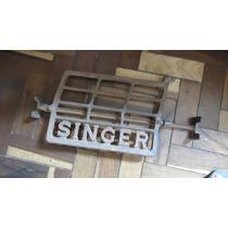 Pé Pedal De Máquina Singer Antigo De Ferro