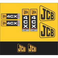 Kit Adesivos Jcb 4 Cx - Decalx