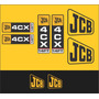 Kit Adesivos Jcb 4 Cx - Decalx