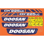 Kit Adesivos Doosan Dx225 Lc - Decalx