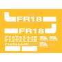 Kit Adesivos Fiatallis Fr 18 - Decalx