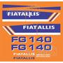 Kit Adesivos Fiatallis Fg 140 - Decalx