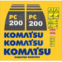 Kit Adesivos Komatsu Pc200-8 - Decalx