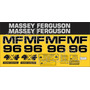 Kit Adesivos Massey Ferguson Mf96 - Decalx