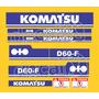 Kit Adesivos Komatsu D60f - Decalx