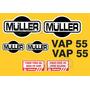 Kit Adesivos Muller Vap 55 - Decalx