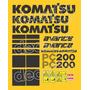 Kit Adesivos Komatsu Pc200 - Decalx