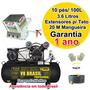 Projetor Argamassa 3.6 Kit3 + Compressor 10pés/100 L - 1 Ano