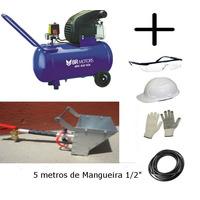Compressor 2.5hp 50 Litros +projetor Argamassa E Reboco 2,5l