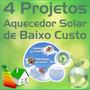 3 Projeto Aquecedor Solar Frete Grats Painel Solar Com Placa