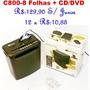 Fragmentadora Trituradora De Papel-cd/dvd C800 13lts - 8fls