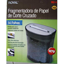 Fragmentadora Trituradora Royal 14 F/cartão Cd/dvd