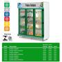 Conveniência Para Verduras 2,0m - 3 Portas - Garantia 1 Ano