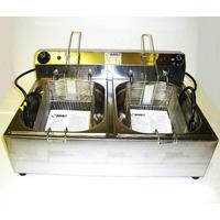 Fritadeira Eletrica 2 Cubas 3 A 5 Litros 3000w 220v 127v