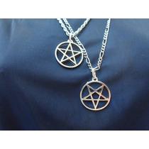 Kit Colar Pentagrama Prata + Invertido+ Pigente Supernatural